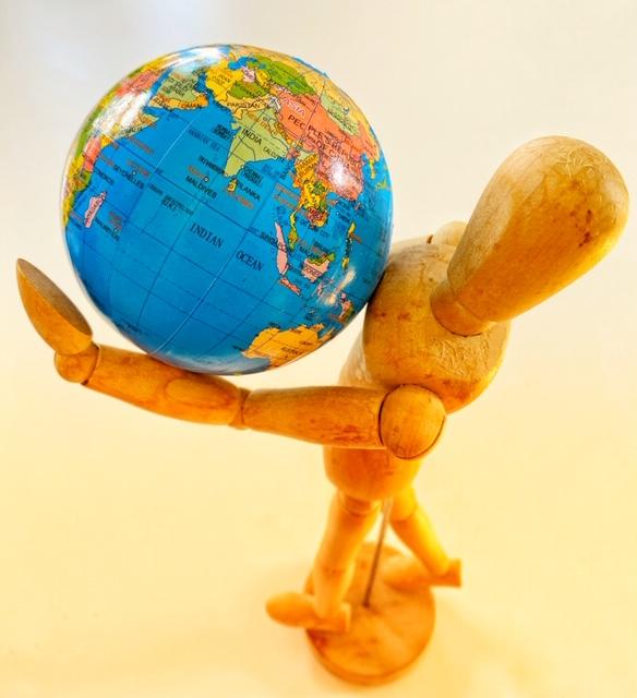 Die Erde auf Händen tragen